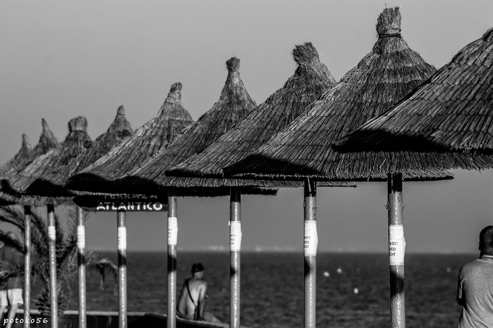 Hotel playa de la Luz sombrajos en la terraza Rota