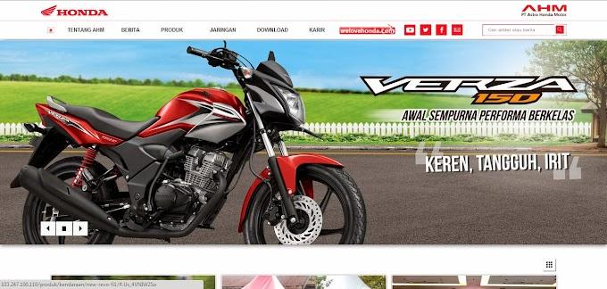 Masih Adanya Kesalahan dalam Web Astra Honda Motor