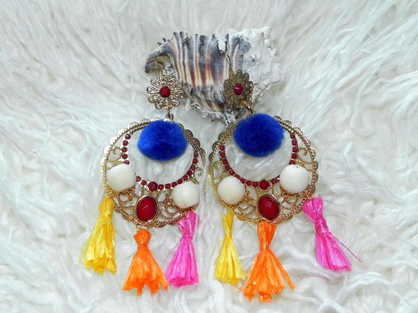 smart n snazzy: diy ~ dolce & gabbana inspired raffia tassel earrings
