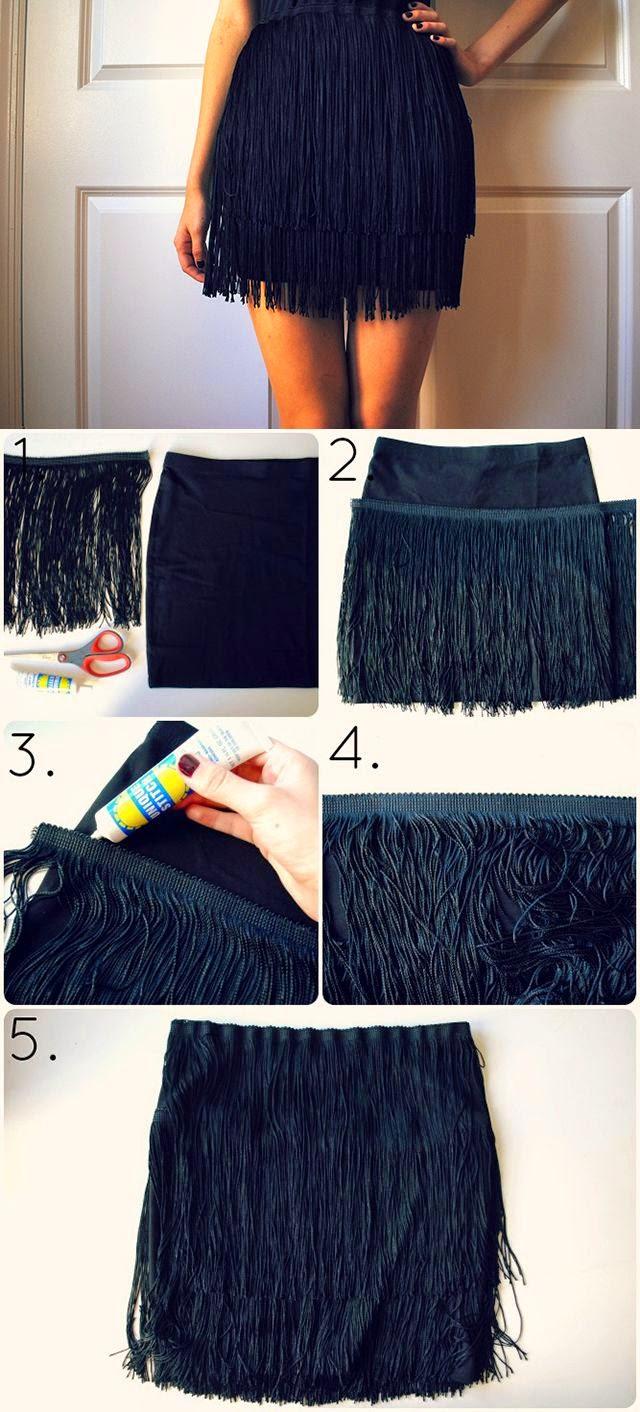 Como Convertir una Falda simple en una de Fiesta