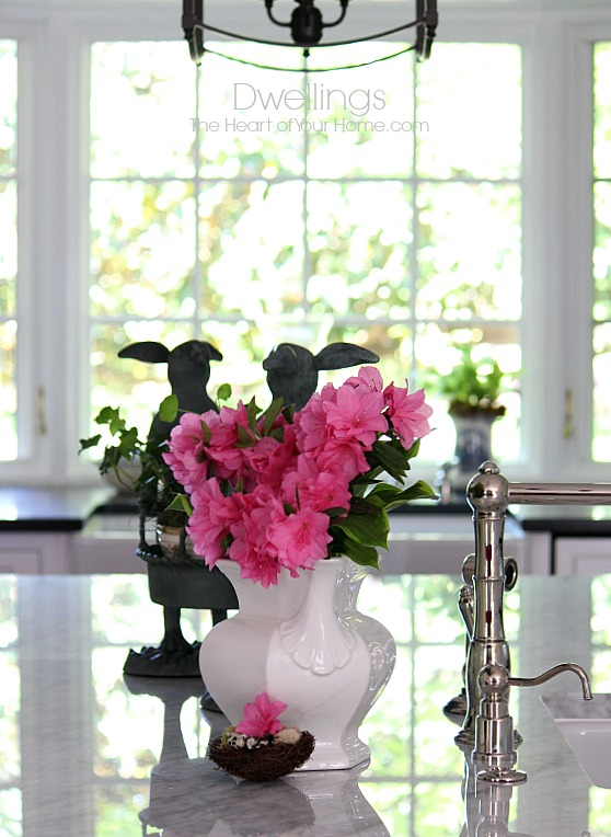 Spring in the Farmhouse style kitchen
