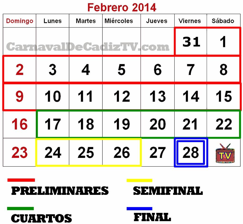 Calendario COAC 2014