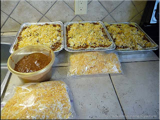 trays of lasagne ready for the freezer