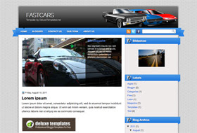 FastCars Blogger Template