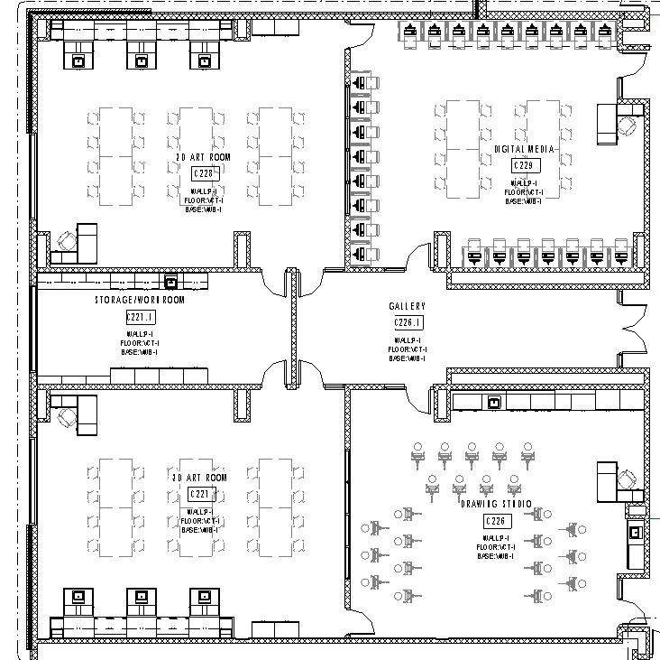 Lake central high school room concepts art 2d art room suite plan malvernweather Gallery