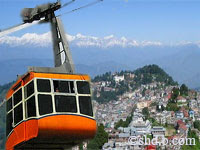 Images of rope way Darjeeling