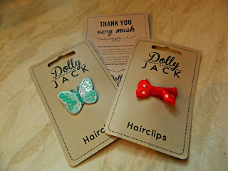 Dolly Jack Hair Clips Jessica Bow Stella Butterfly