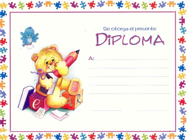 Mi Pequeño Rincón Educativo.: Diplomas infantiles