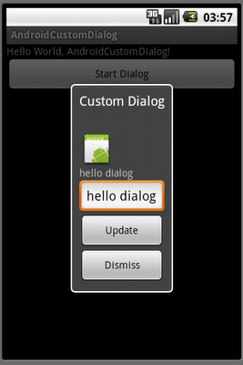 Create custom dialog with EditText