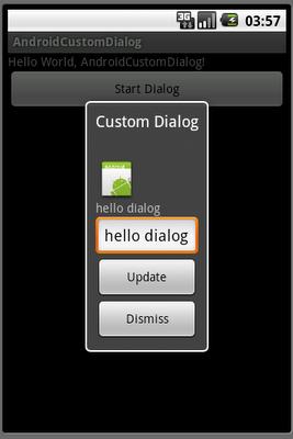 Create custom dialog with EditText