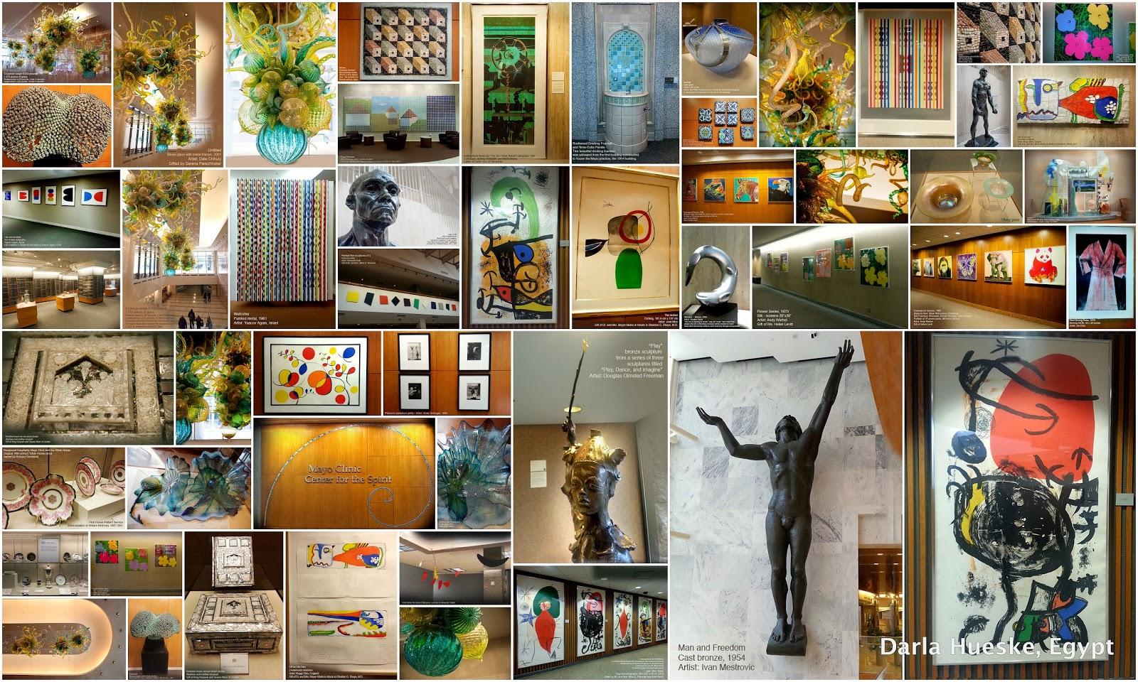 art at mayo clinic in rochester minnesota, darla hueske