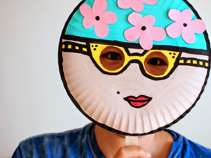 Paper Plate Mask Kids' Craft- Vintage Swimmer!