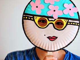 Paper Plate Mask Kids' Craft- Vintage Swimmer!
