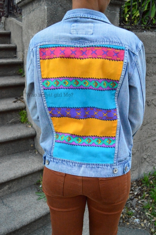 denim jacket diy {who is that girl mo?}