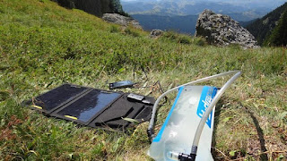 Hydrapak reservoir and portable solar panel