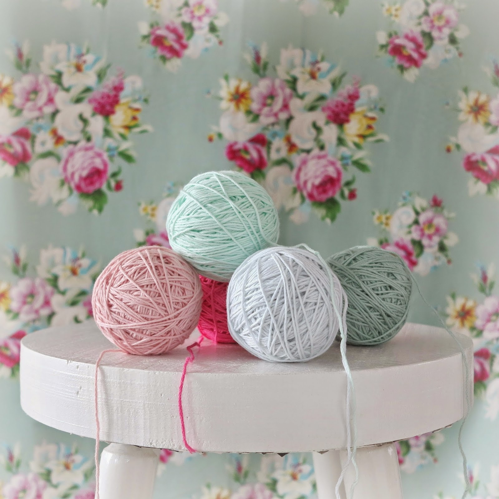 ByHaafner, organic cotton yarn, For Nature, Rosários4, flowers, pastels