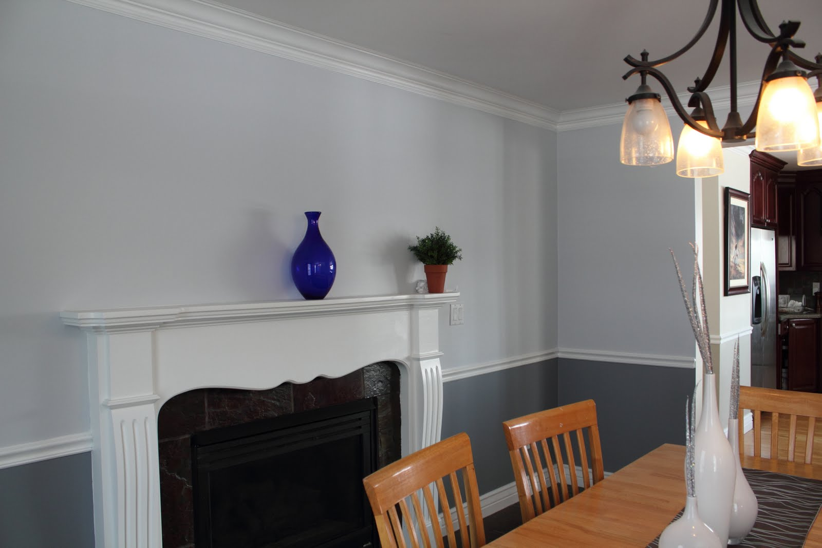 dining room before dining room after dining room before