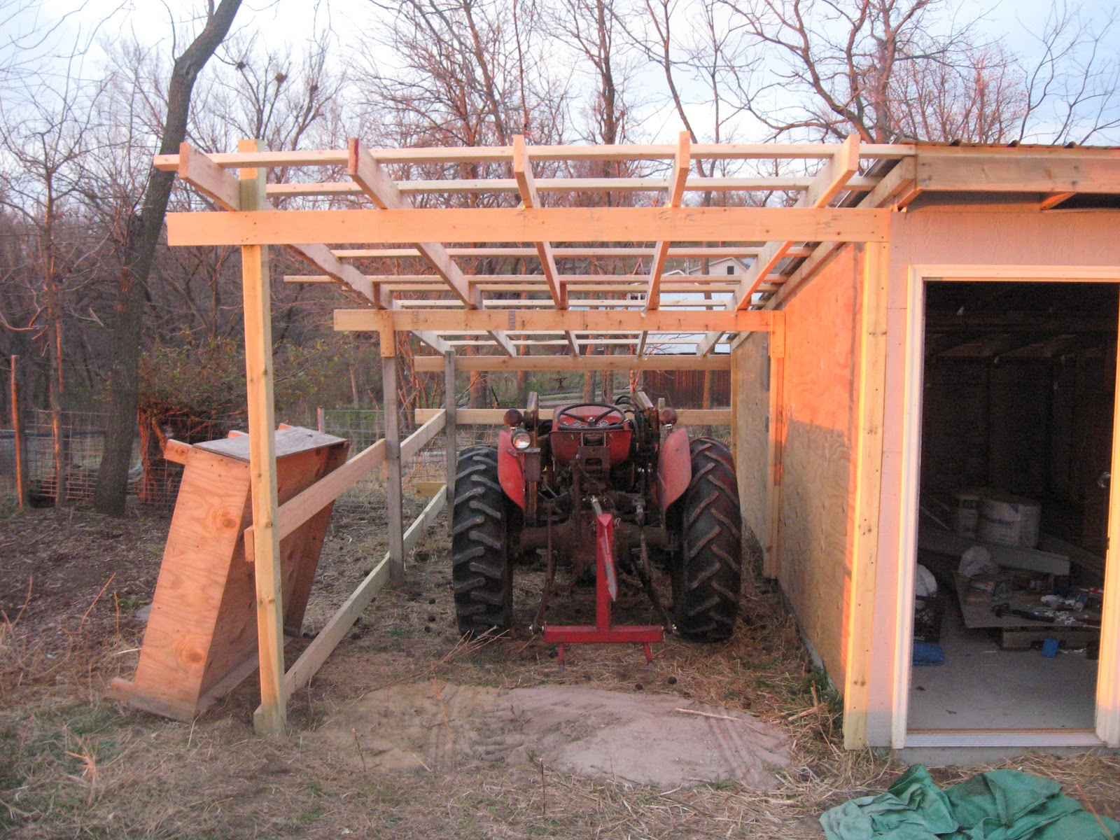 My life as a beginning iowa farmer at wild rose pastures for How to build a tractor shed