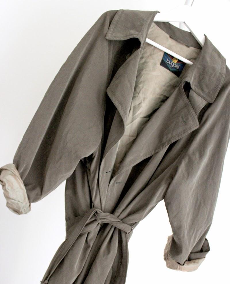 Bugatti Long Coar Vintage khaki