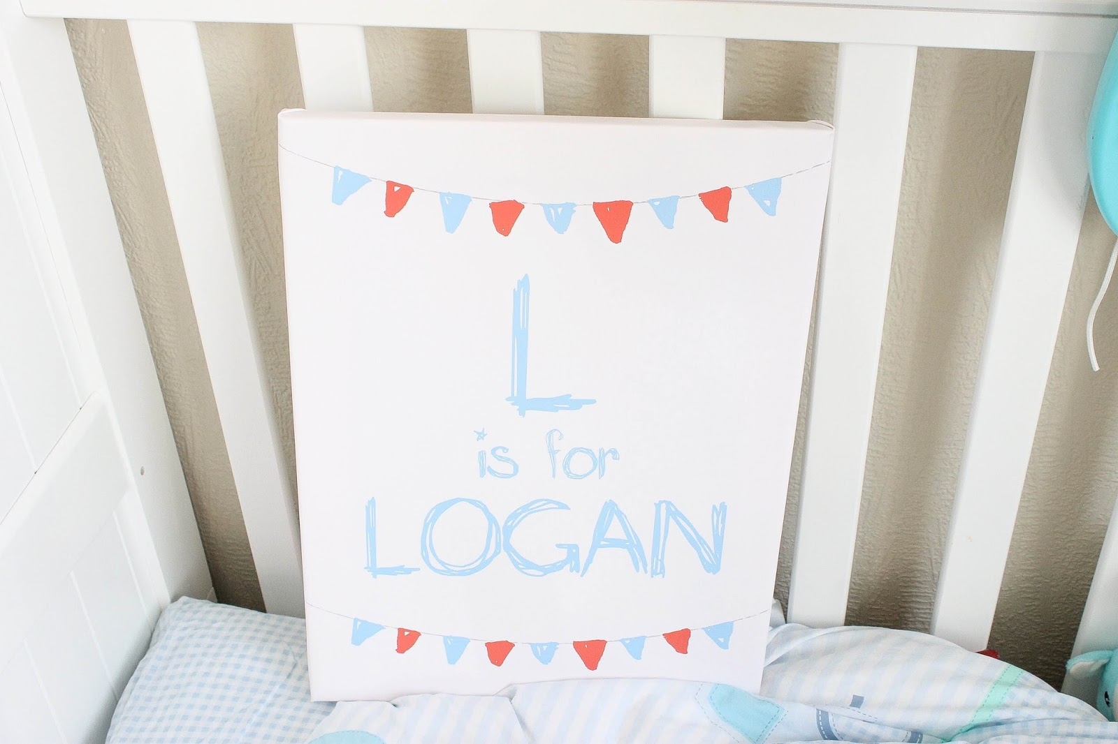 personalised baby canvas
