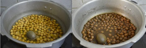 pressure cooked channa with tea bags