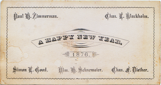 Antique New years Card - The Cedar Chest blog
