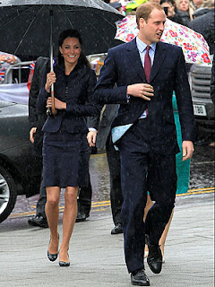 Prince William Wedding News: Prince William and Kate Middleton brave rain