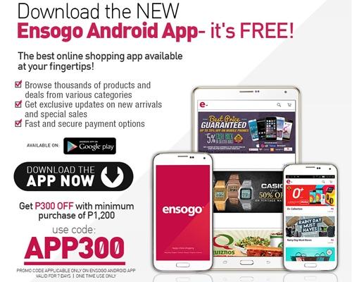 Ensogo, Ensogo mobile app, Android app, free, mobile shopping, Ensogo promo code,  Ensogo iOS app