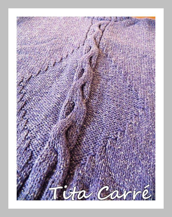Colete Bambu com tranças em tricot e tutorial