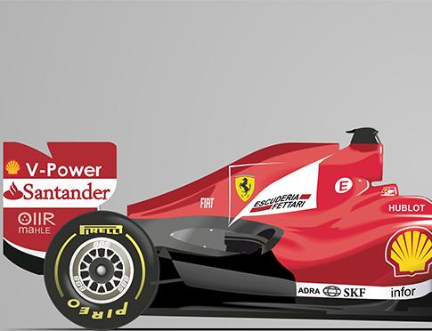 """Fórmula 1  Ferrari """"F138"""" - vector 1"""