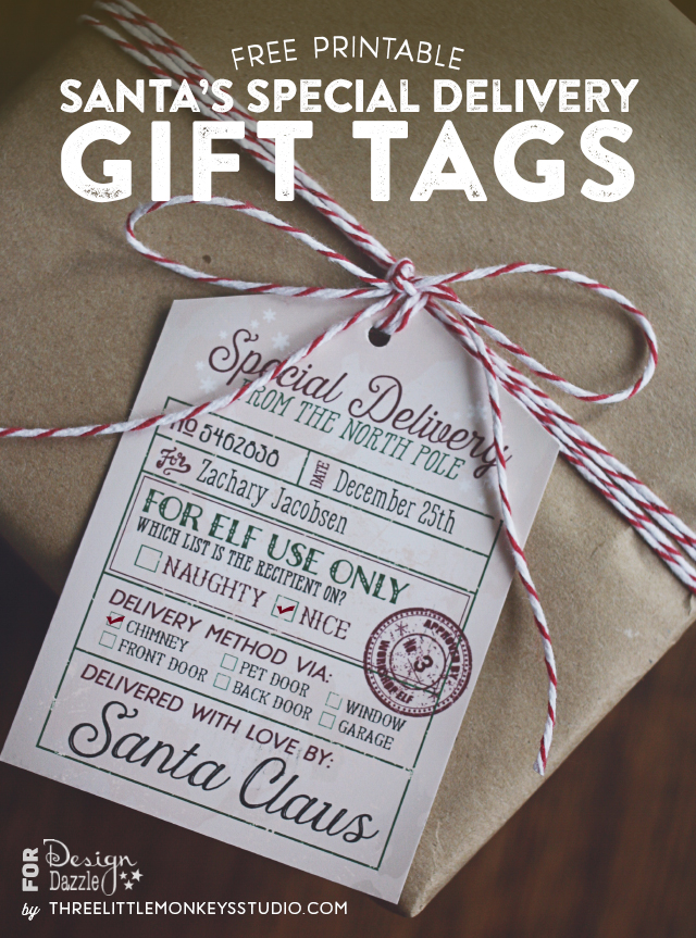 Delicate image with regard to printable santa tags