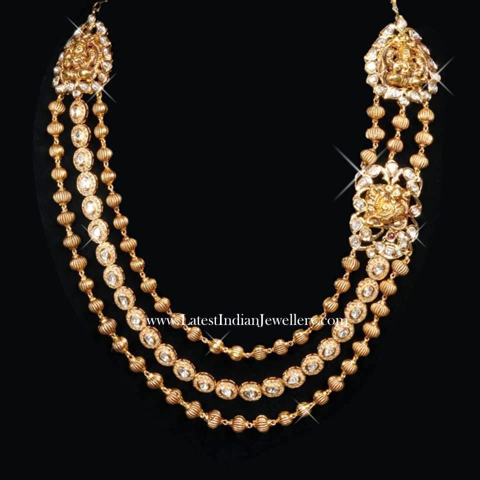 3 Step Gold Beads Haram