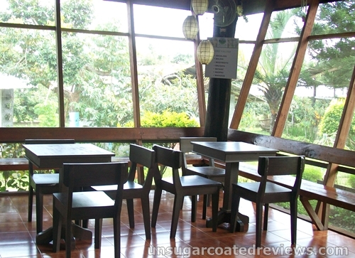 tables and chairs at the Partoza Durian Farm