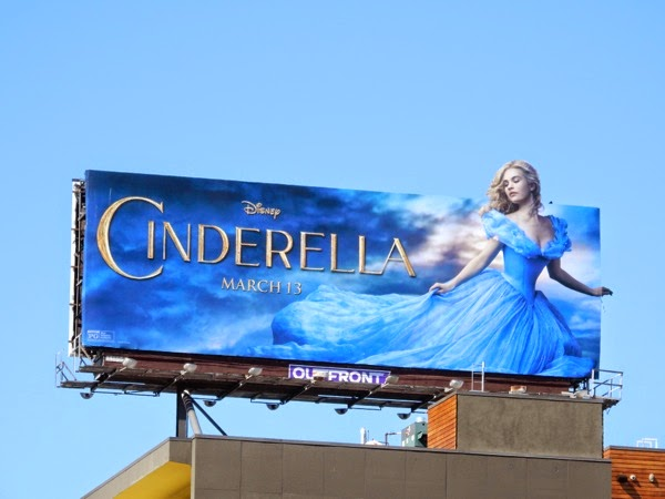Disney Cinderella film billboard