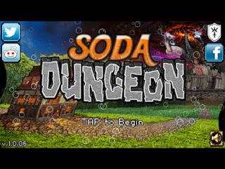 Soda Dungeon タイトル画面