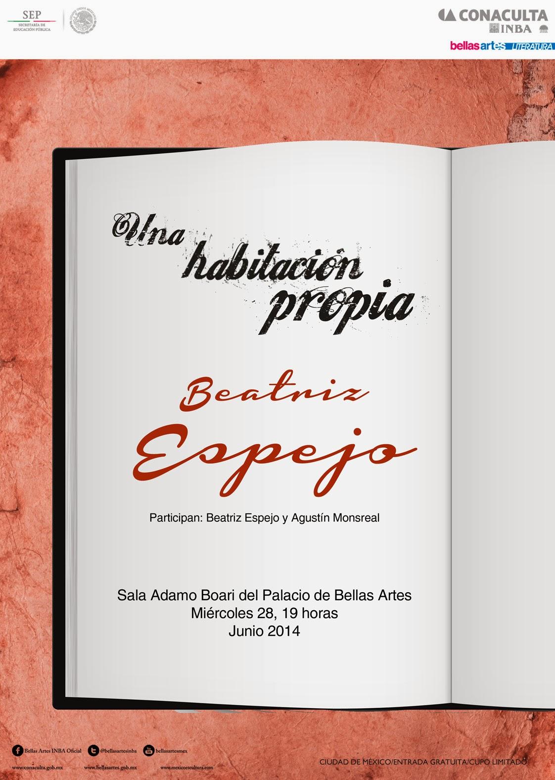 """El ciclo """"Una habitación propia"""" presenta a Beatriz Espejo en el Palacio de Bellas Artes"""