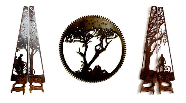 Recycled art from old metal tools