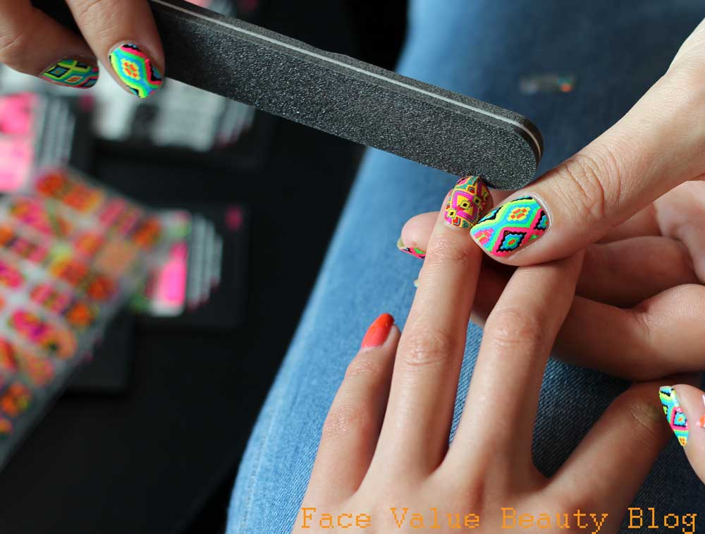 How TO Apply Nail Wraps Demo Beauty Blog