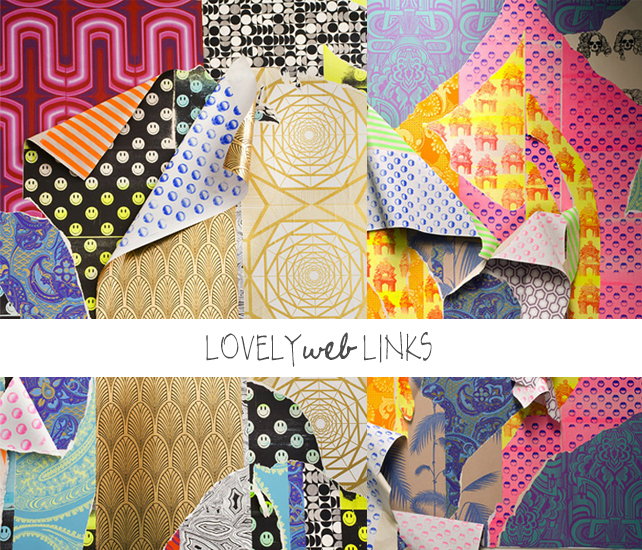 Lovely web links - wallpaper collage by Ludovica Gioscia