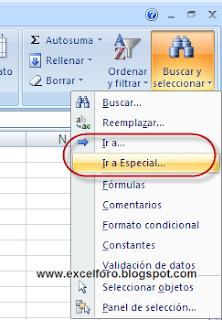 Rellenar celdas en blanco en Excel.
