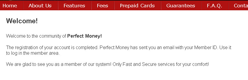 Cara Mendaftar Perfect Money