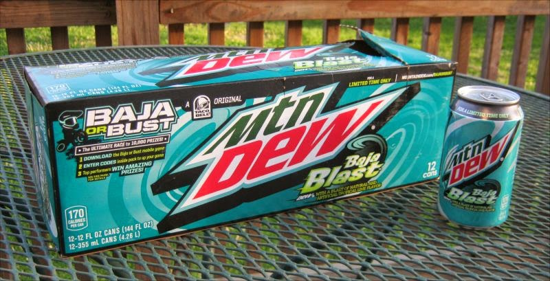 Mountain dew baja blast 12 pack