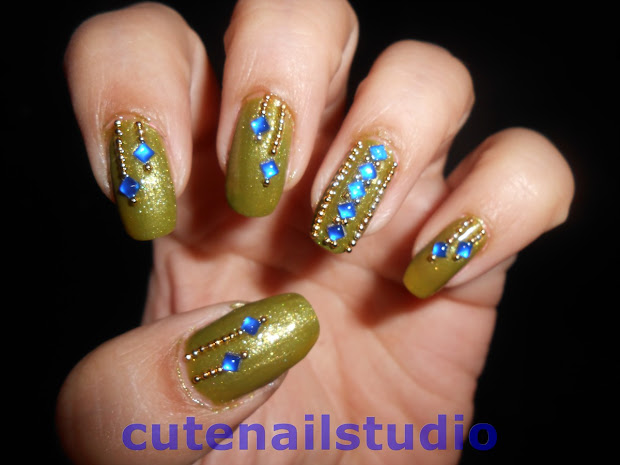 cute nails indian ethnic nail