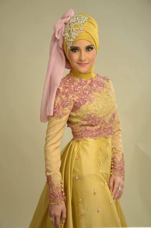 Model Kebaya Hijab Modern Kuning