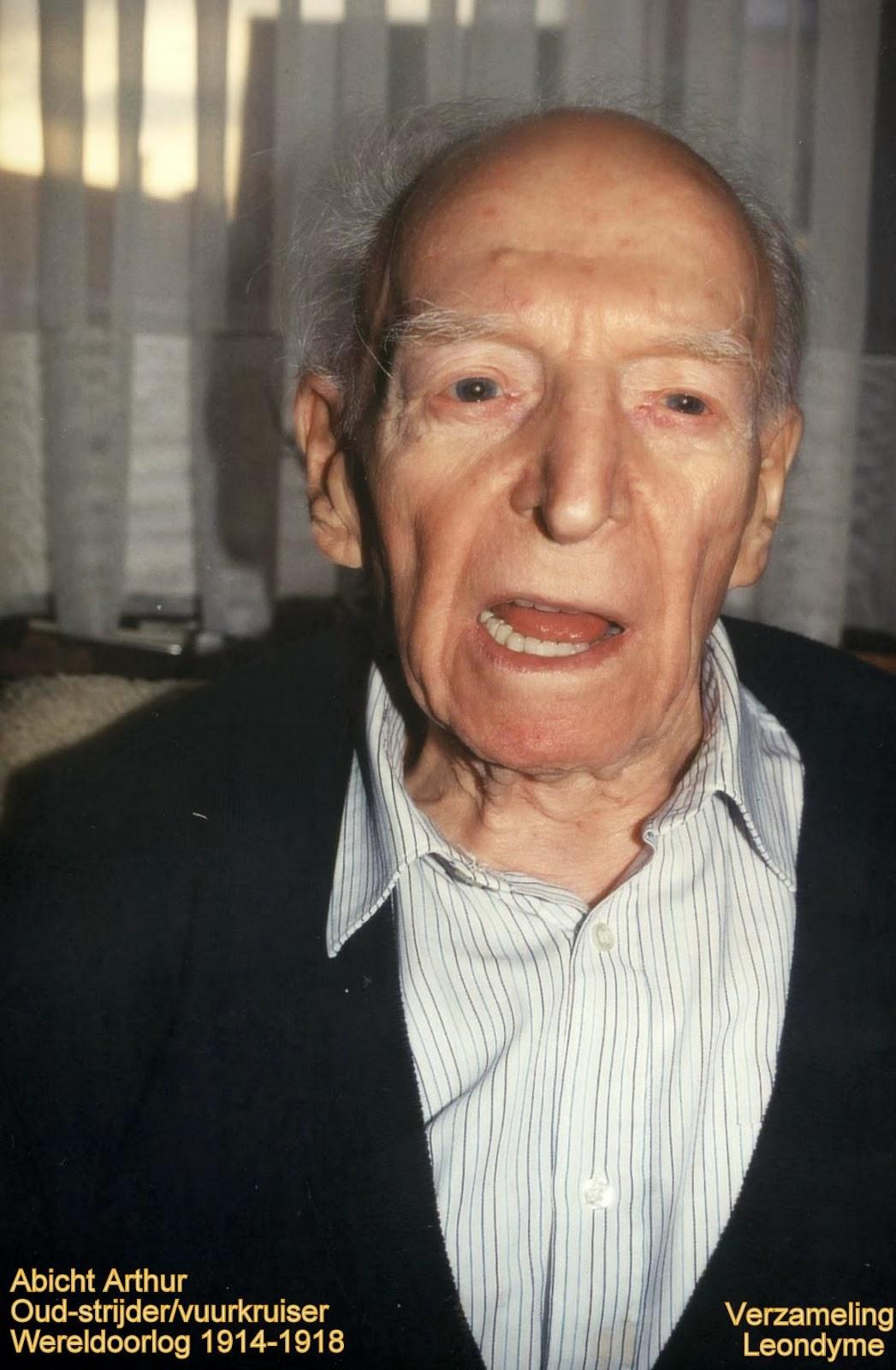 Honderdjarige oud-strijder en vuurkruiser Arthur Abicht 1896-1997