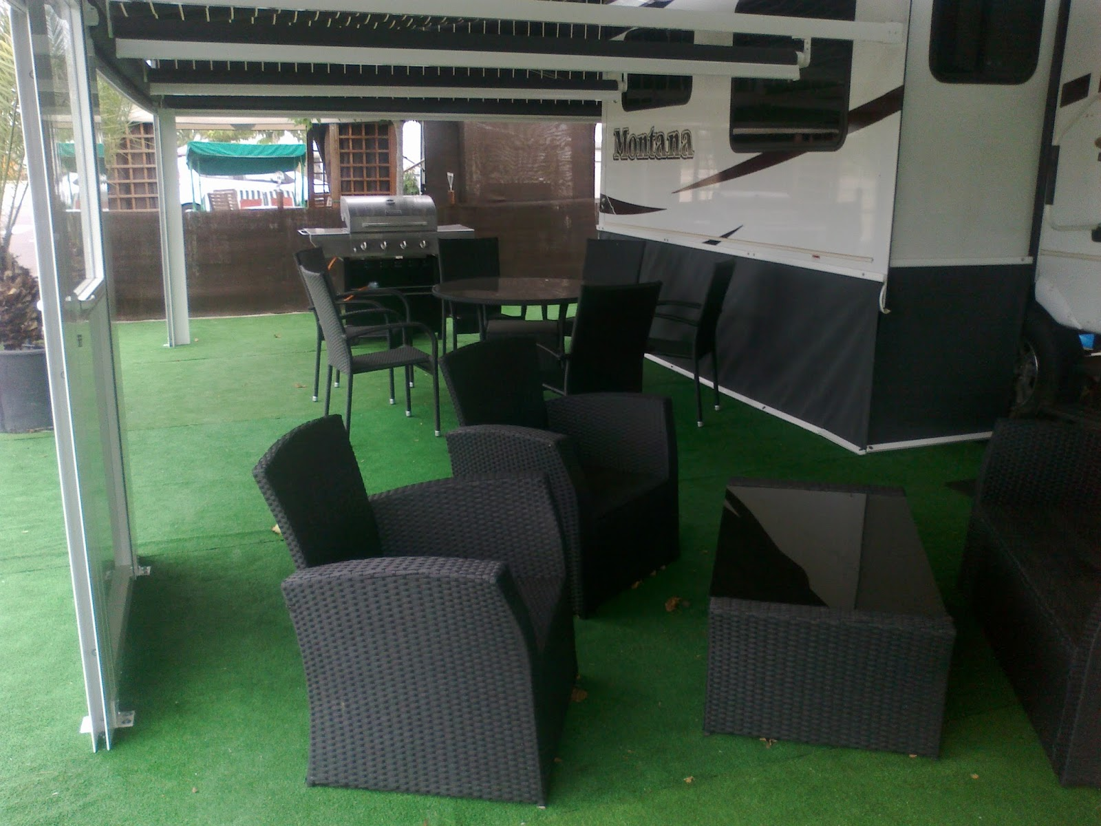 Awning Area And Furniture
