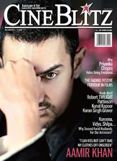 Aamir Khan - Cover Of Cine Blitz - December 2012