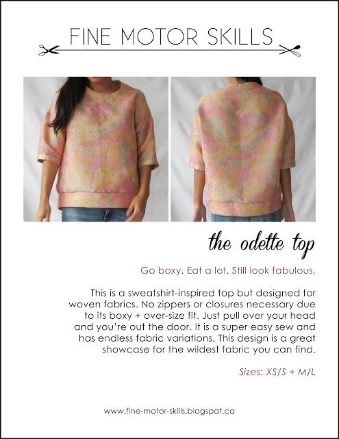 Odette top free pattern