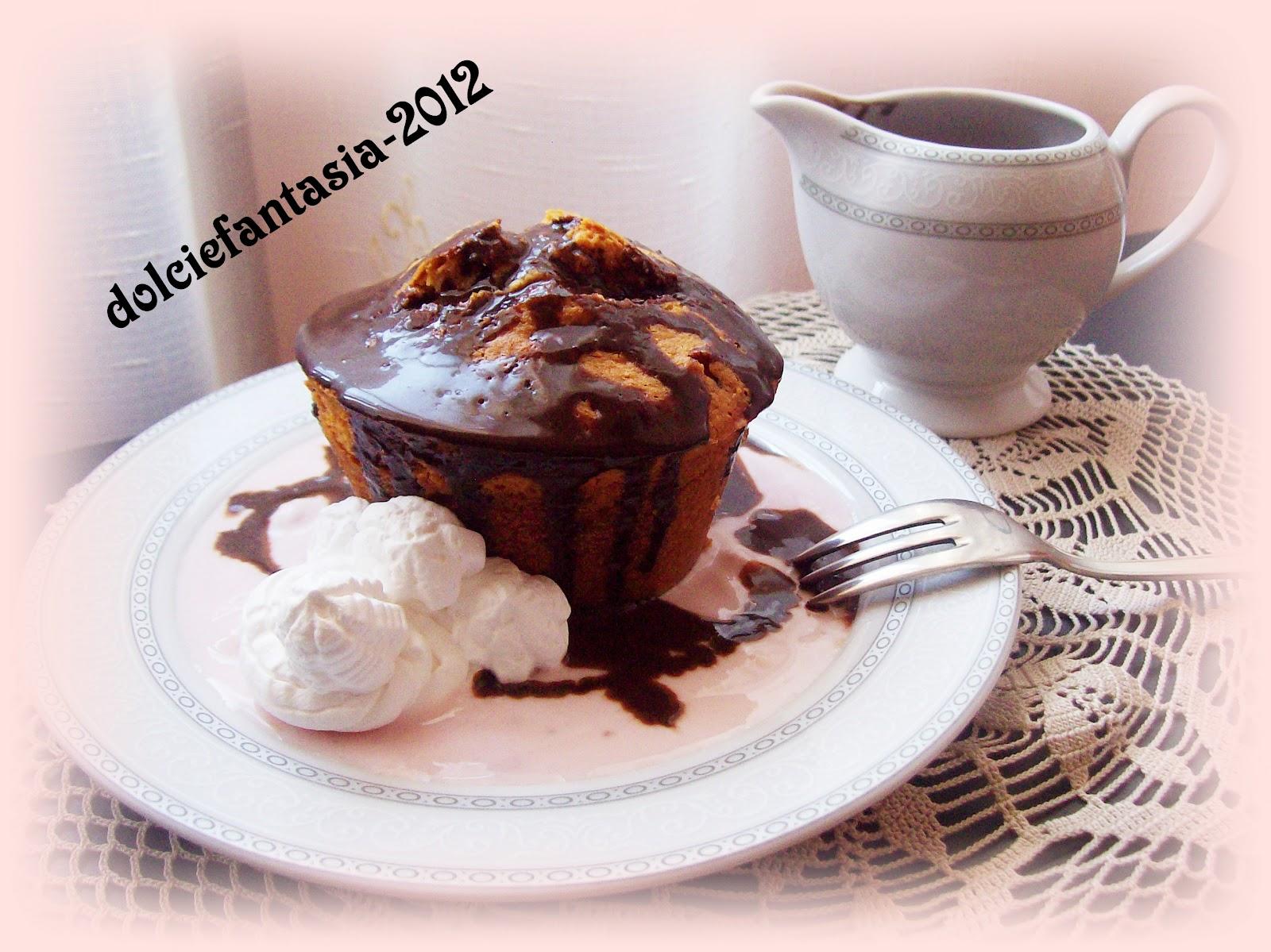 Dolci e fantasia mini torte su letto di yogurt e bagno di - Bagno di cioccolato ...