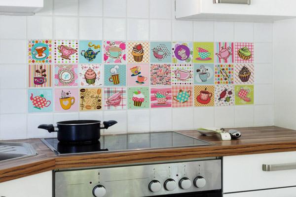 Decorando sua cozinha com azulejos adesivos  Amando Cozinhar  Receitas, dic # Azulejo Cozinha Com Papel Contact